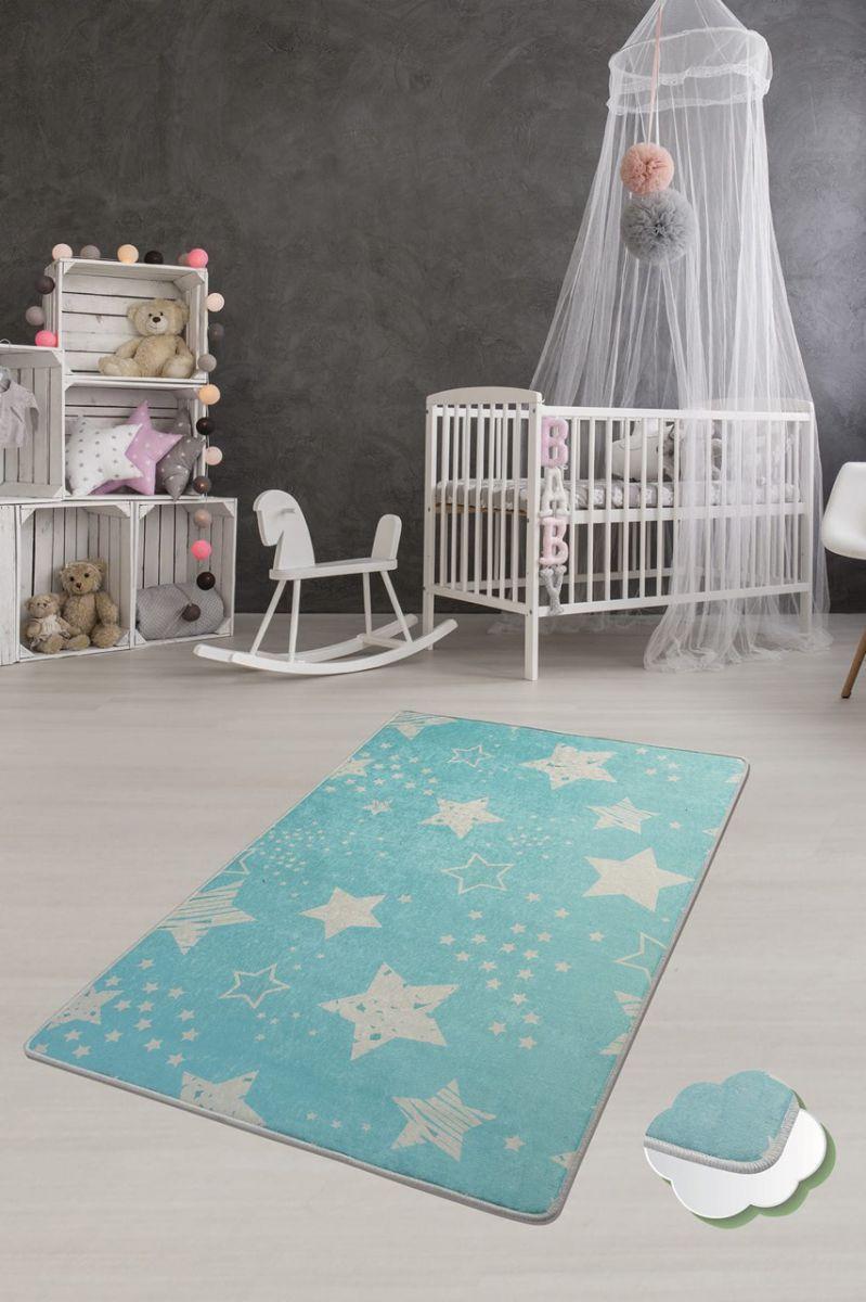 Ковер детский безворсовый Chilai Home 100 х 160 см., Stars mavi