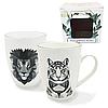 Чашка лев, тигр (фарфор 350 мл.)