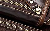 Сумка чоловіча поясна стегновий шкіряна. Сумка на ногу з натуральної шкіри (чорна), фото 9