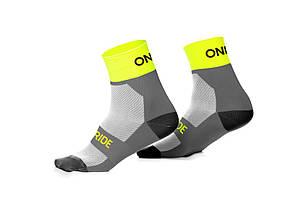 Носки ONRIDE Chase Free Size серый / лайм