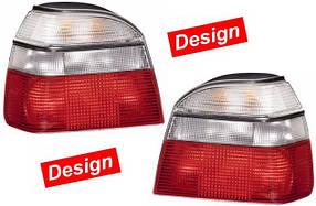 Фонари задние Volkswagen Golf III 1991-1996 бело-красные кт 2шт 9EL 006 220-921