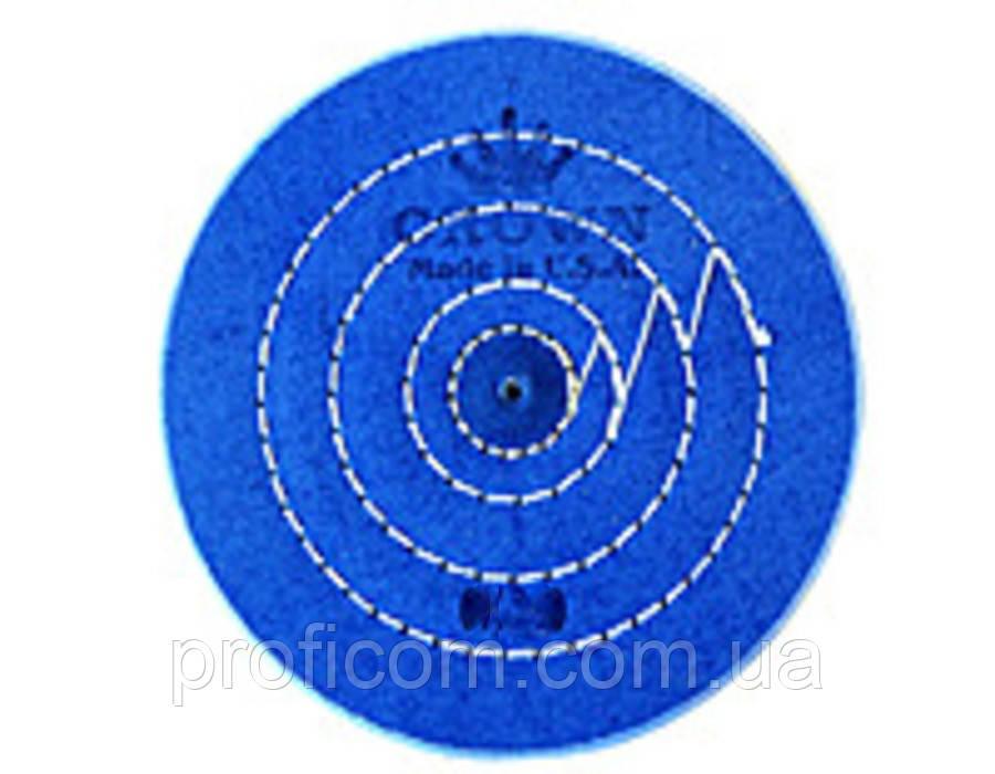 Круг муслиновый CROWN синий d-175 мм, 60 слоёв