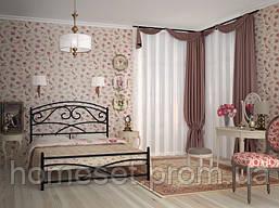 Металлическая двуспальная кровать Лейла