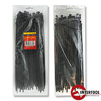 Хомут пластиковый 2,5x200мм, (100 шт/упак), черный TC-2521