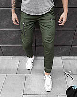 """Молодежные мужские зимние штаны """"Папин Бродяга"""" цвет хаки (олива), фото 1"""
