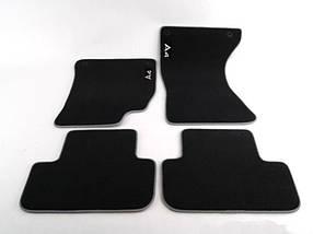 Коврики в салон оригинальные для  Audi A4 В8 (2008-2015) /Чёрные, кт 4шт (ворсовые) 8K1061270 MNO