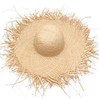 Соломенная плетенная пляжная шляпа с широкими полями опт, фото 1
