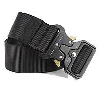 Тактический нейлоновый ремень Tactical Belt 125 см / Мужской ремень Черный