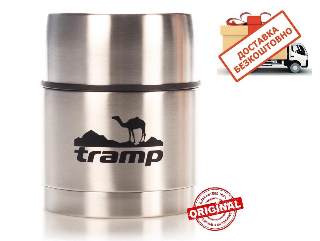 Термос 0,5 Tramp с широким горлом TRC-077. Пищевой термос. Термос для еды.