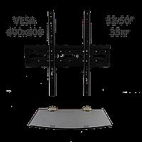 Комплект для TV и тюнера - кронштейн 907SF и полка Gray (серый) 180*350*6, фото 1