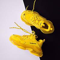 Женские кроссовки Balenciaga Triple S Clear Sole Yellow (люкс копия)
