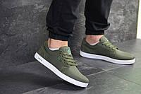 Мужские кеды темно зеленые Lacoste
