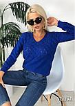 Джемпер свитер женский вязаный с узором (в расцветках), фото 4