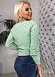 Джемпер свитер женский вязаный с узором (в расцветках), фото 5