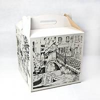Коробка для торта с рисунком 300*300*300 мм