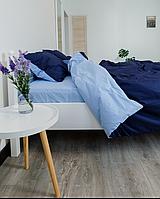 Комплект постельного белья Полуторный (150х220 см) Ранфорс цвет Сапфир+Ниагара