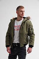 Стильная мужская зимняя куртка с мехом
