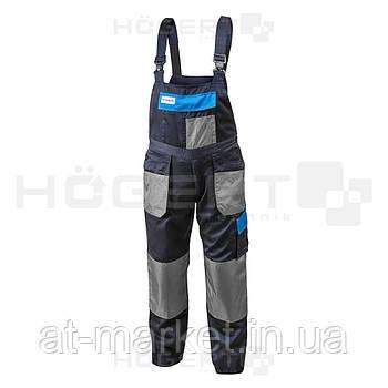 Рабочий полукомбинезон темно-синий, размер XL HOEGERT HT5K271-XL