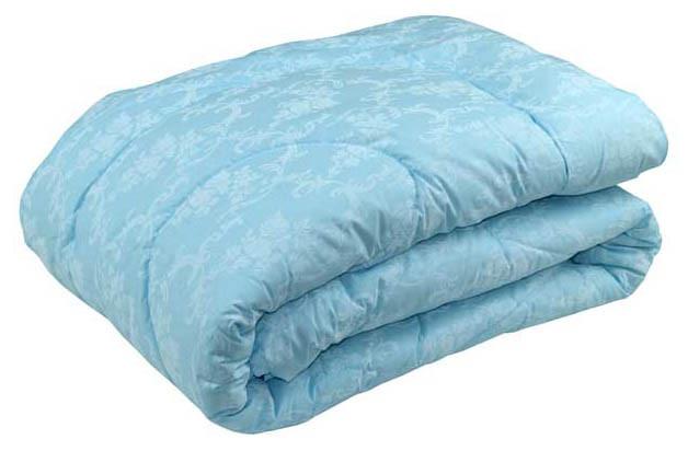 Одеяло силиконовое Руно Вензель голубое демисезонное 172х205 двуспальное