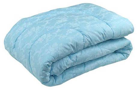 Одеяло силиконовое Руно Вензель голубое демисезонное 172х205 двуспальное, фото 2