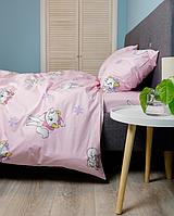 Комплект постельного белья Евро (200х220 см) Ранфорс цвет Мари