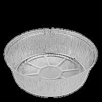 Контейнер круглый из алюминиевой фольги 1440мл 205*57(T546L),уп/100шт, фото 1