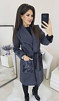 Пальто женское кашемировое стильное в разных цветах, фото 1