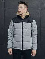 Мужская зимняя куртка Staff retro gray and black