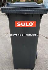 Контейнер для сміття чорний SULO EN-840-1/ 240 л, фото 3
