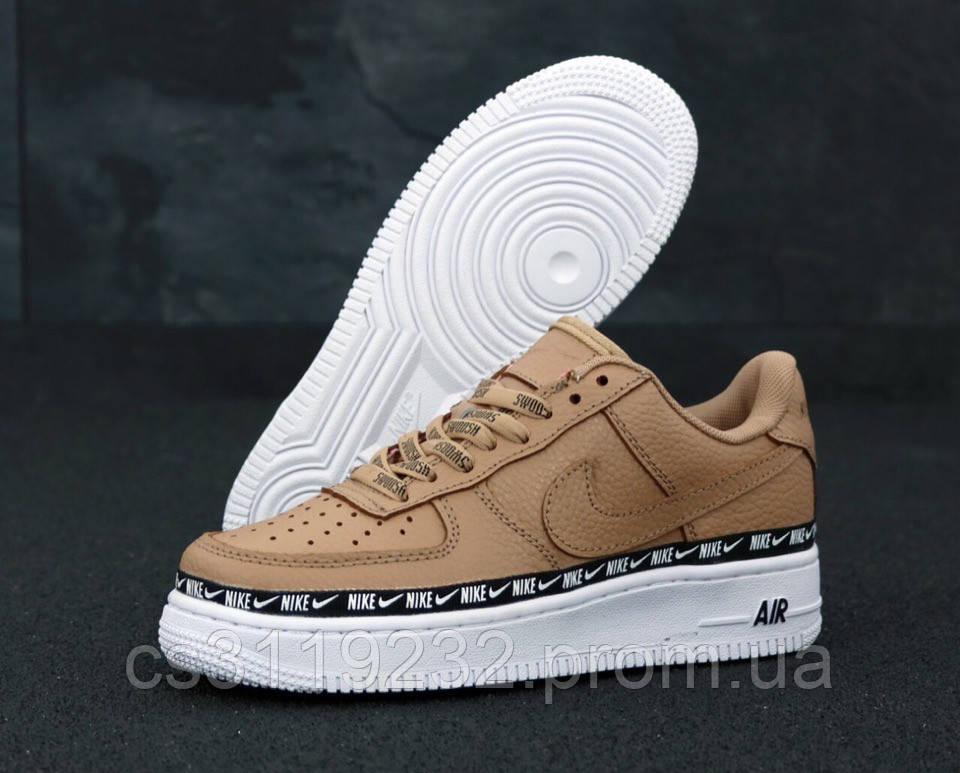 Женские кроссовки Nike Air Force 1 Low Brown (коричневые)