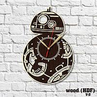 Часы деревянные Звездные Войны Круглые часы в комнату Декор детской комнаты Арт дизайн Толщина 0,4 см