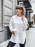 Женский вязаный свитер свободного кроя с разрезами внизу (в расцветках), фото 3