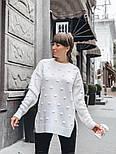 Женский вязаный свитер свободного кроя с разрезами внизу (в расцветках), фото 2