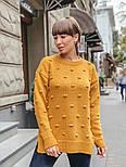Женский вязаный свитер свободного кроя с разрезами внизу (в расцветках), фото 5