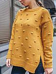 Женский вязаный свитер свободного кроя с разрезами внизу (в расцветках), фото 9