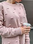Женский вязаный свитер свободного кроя с разрезами внизу (в расцветках), фото 10