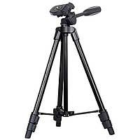 Штатив для камеры или телефона 142 см A608 + Крепление для телефона на штатив в Подарок