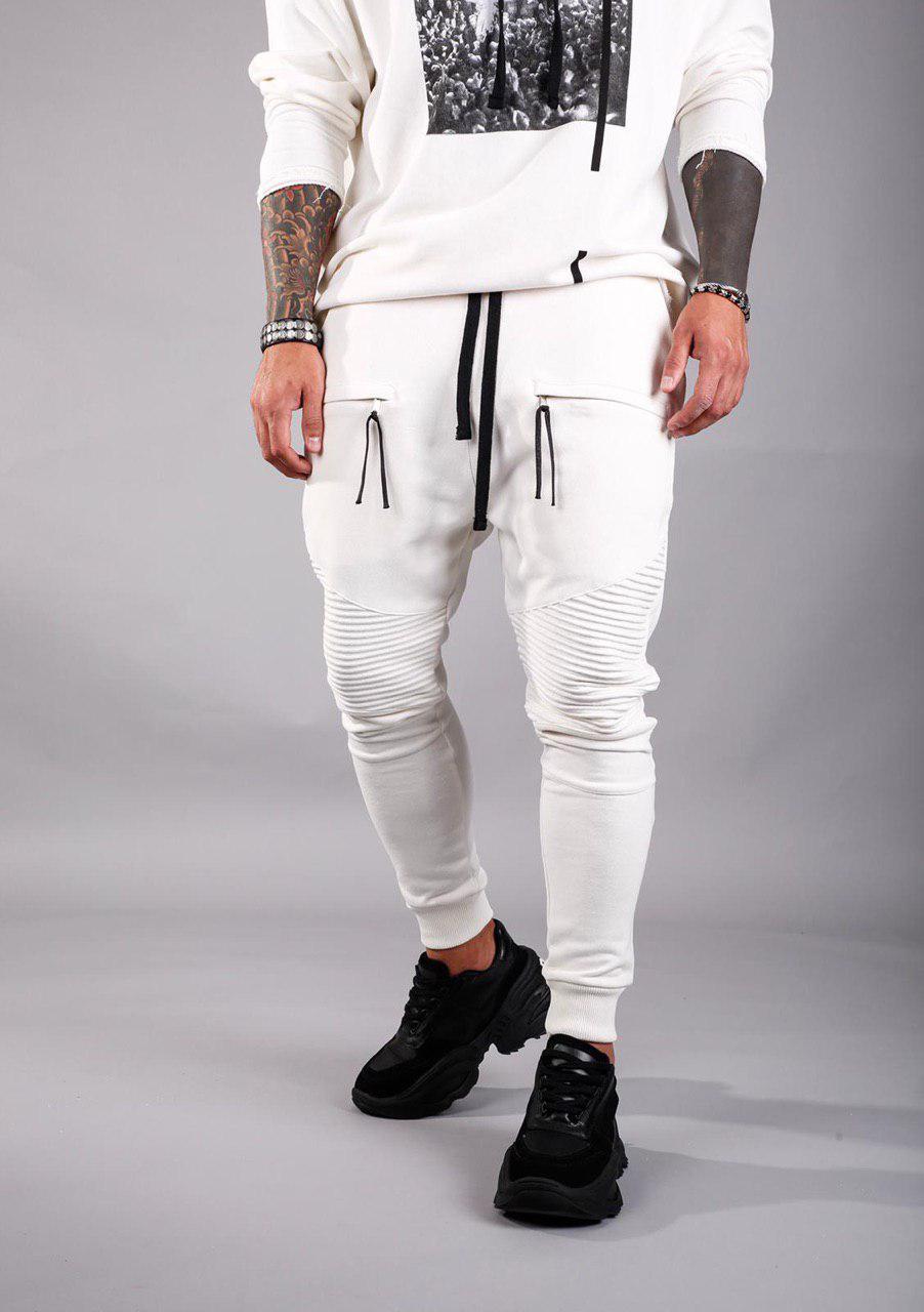 Мужские спортивные штаны утепленные Black Island ADA1046-2198 white