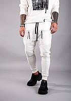 Мужские спортивные штаны утепленные Black Island ADA1046-2198 white, фото 1