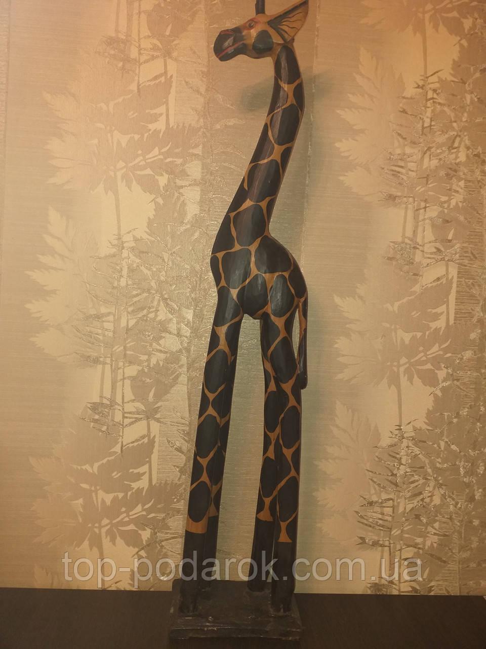 Статуэтка деревянная Жираф  100 см