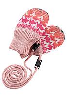Зимние варежки для девочки Reima Tresor 517195-3227. Размер 0 и 1., фото 1