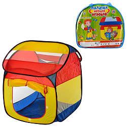 Палатка M 0509 (12шт) домик, 87-82-97см, 1вход, 2окна, в сумке, 38-40-6см