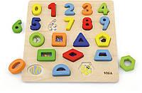 Набор для обучения Цифры и формы Viga toys (50119)