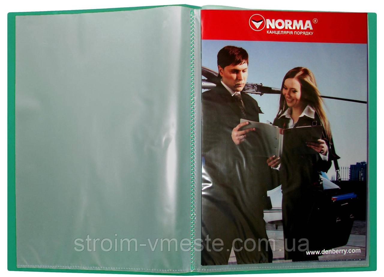 Папка с файлами А4 NORMA 5025 PР 10 файлов 500/ 25 мкм