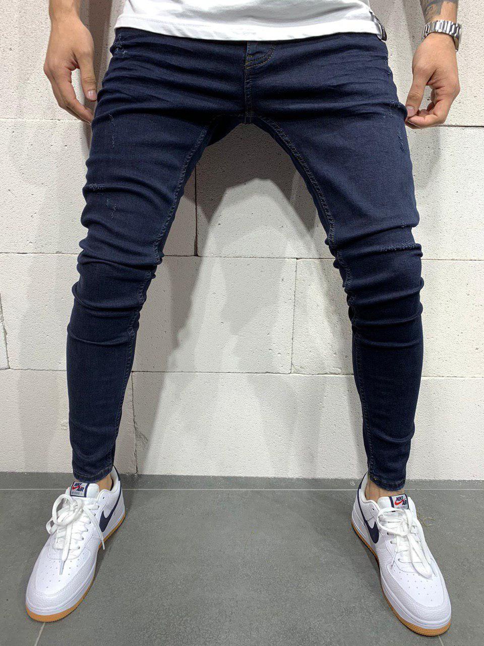 Мужские джинсы зауженные темно-синие 2Y Premium 4844