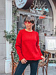 Женский вязаный теплый свитер свободного кроя (в расцветках), фото 4