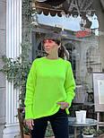 Женский вязаный теплый свитер свободного кроя (в расцветках), фото 5
