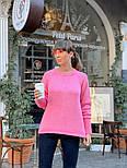 Женский вязаный теплый свитер свободного кроя (в расцветках), фото 7