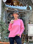 Женский вязаный теплый свитер свободного кроя (в расцветках), фото 8