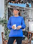 Женский вязаный теплый свитер свободного кроя (в расцветках), фото 2